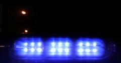 Patrol light at blue flicker Stock Footage