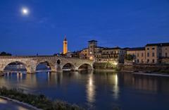 Nigh view of Verona, Italy Stock Photos