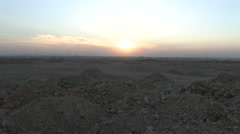 Desert Sunset Next to Pyramids of Giza - stock footage