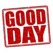 Good day stamp - stock illustration