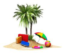 Travel, tourism and vacations concept Stock Illustration