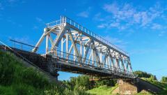 Railway bridge time laps - stock footage