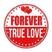 Forever true love stamp - stock illustration