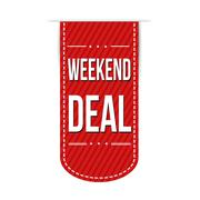 Weekend deal banner design Stock Illustration