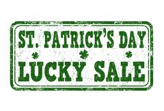 St. Patrick's Day lucky sale stamp - stock illustration