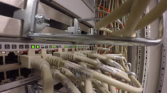 Network Hub Uplink in Data Center Stock Footage
