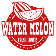 Water melon stamp Stock Illustration