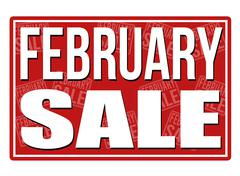 February sale sign Stock Illustration