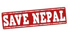 Save Nepal stamp Stock Illustration