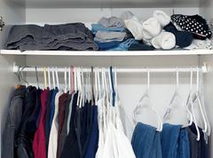 Inside wardrobe Stock Photos