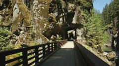 Othello Railroad Tunnels, British Columbia Stock Footage