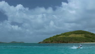 Stock Video Footage of Kite surfing in the Tobago Cays 5
