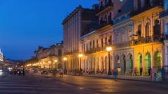 Timelapse of busy Road in Havana, Cuba Arkistovideo