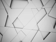 Silver triangle abstract background concept rendered - stock illustration