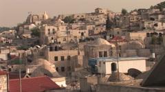 Old City Jerusalem Skyline Stock Footage