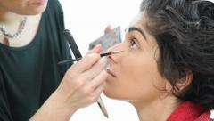 Make up artist Stock Footage