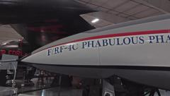 Historical RF-4 Phantom II jet fighter Hill AFB Utah pan 4K 033 Stock Footage