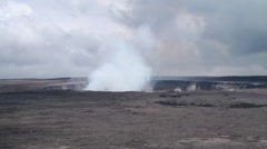 Wideshot of Active Volcano in Hawaii. Stock Footage