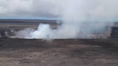 Steam rising up from volcano. Stock Footage