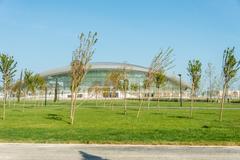BAKU - MAY 10, 2015: Baku Aquatics center on May 10 in BAKU, Aze - stock photo