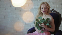 Stock Video Footage of Fashion photo shoot female model posing, beautiful female model, model look