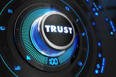 Trust Controller on Black Control Console Stock Illustration