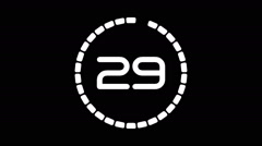 Real time countdownA-21-kd Stock Footage