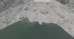 Dry reservoir aerial 1 - stock footage
