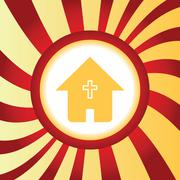 Christian house abstract icon Stock Illustration