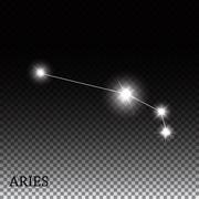 Stock Illustration of Aries Zodiac Sign of the Beautiful Bright Stars Vector Illustrat