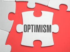 Optimism - Puzzle on the Place of Missing Pieces Stock Illustration