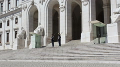 Portuguese Parliament Building, Palácio da Asembleia da República, Lisbon Stock Footage