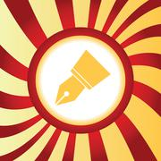 Ink pen nib abstract icon - stock illustration