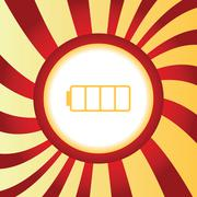 Empty battery abstract icon - stock illustration