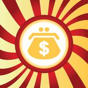 Dollar purse abstract icon Stock Illustration