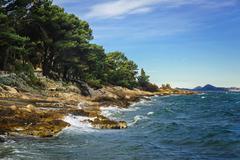 Stock Photo of The coast of the Adriatic Sea in Dalmatia, Croatia