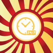 Overnight daily workhours abstract icon - stock illustration