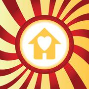 Beloved house abstract icon - stock illustration