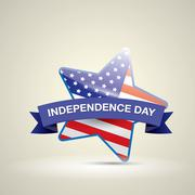 Stock Illustration of Independence Day with star in national flag colors
