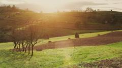 Transylvanian sunset Stock Footage