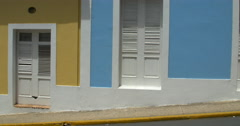 View of colorful houses in San Juan Stock Footage