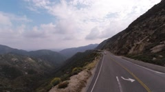 Lamborghini Gallardo at Angeles Crest Hwy - stock footage