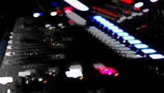 Sound console and no movements Stock Footage