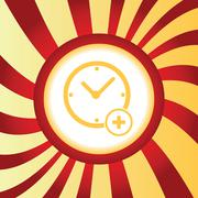 Add time abstract icon Stock Illustration