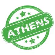 Stock Illustration of Athens green stamp