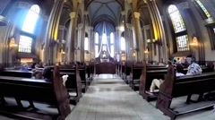 Indoor view church of St. Anthony of Padua basilica Roman Catholic Church Stock Footage