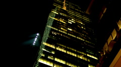 NYC Skyscraper At Night - stock footage