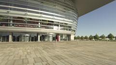 Panning front side of Copenhagen Opera Stock Footage