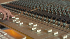 Mixing Track At Recording Studio - stock footage