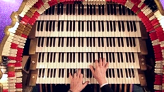 Organ playing above - stock footage